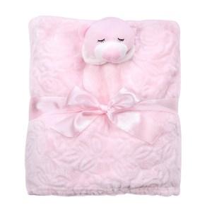 熊熊兒童萬用毯粉