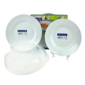 法國Luminarc【樂美雅】純白強化餐盤三件組