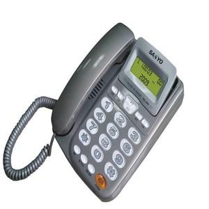 三洋 SANYO 來電顯示有線電話 TEL-805 灰