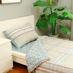 格尚純棉印花床墊三件組