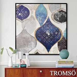 TROMSO時尚風華抽象有框畫大幅-藍調風采W973