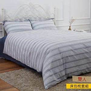 HOLA 雅克色織床包枕套組雙人
