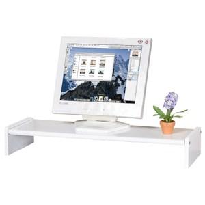Homelike 伸縮式桌上型置物架 純白色