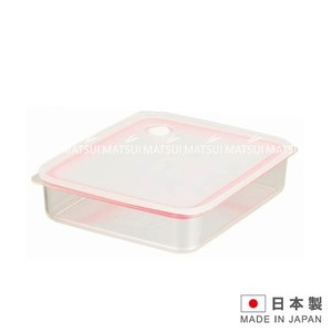 EASY CLEAN 日本製 密閉保鮮盒1.3L-粉色 TA-HB26
