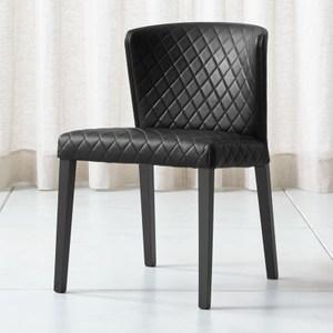 [特價]Crate&Barrel Curran 菱格餐椅 黑色