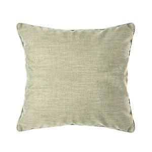 HOLA 素色拼色滾邊抱枕60x60cm 綠灰