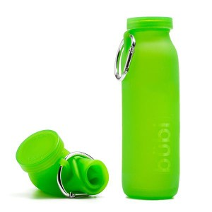 BUBI BOTTLE 矽膠摺疊多功能水壺 650ml - 淺綠色