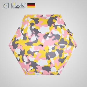 【德國kobold酷波德】抗UV蘑菇頭系列-6K超輕巧-遮陽防曬五折傘-迷彩粉