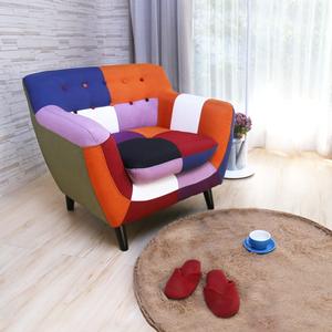 H&D Abel混色拼布設計款獨立筒單人沙發