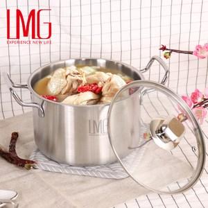 【LMG】304不鏽鋼吉品深型湯鍋18CM-雙耳