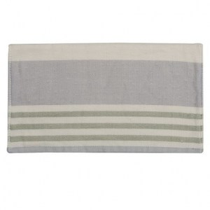 有機棉紗布毛巾 條紋墨綠