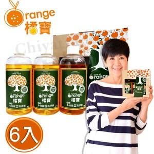 【橘寶】頂級精華橘寶超濃縮多功能洗淨劑(300ml×6入盒裝)含專用噴頭x2