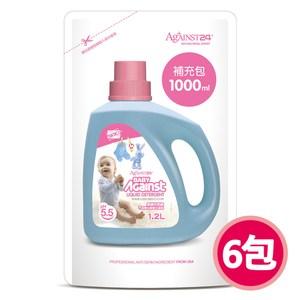 【快潔適】抗菌防蹣嬰兒洗衣精-1000ml補充包*6抗菌防蹣嬰兒洗衣精-1000ml補充包