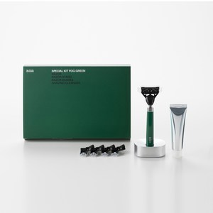 【bläk】blak經典刮鬍刀禮盒套組2.0版(迷霧綠)