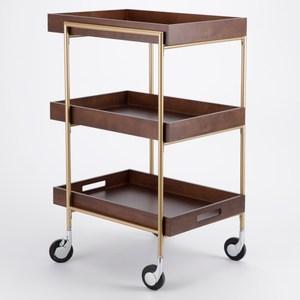 柏頓木質收納餐車 採E1板材