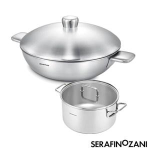 【SERAFINO ZANI 尚尼】健康恆溫雙耳炒鍋不鏽鋼湯鍋