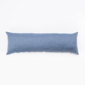 HOLA 素色織紋長抱枕40x120cm 靛藍色