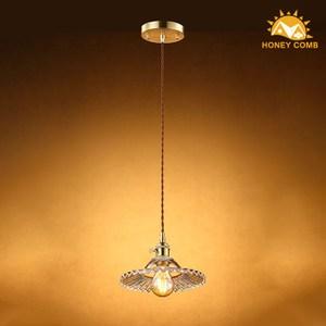 HONEY COMB 高工藝浪紋玻璃單吊燈 TA7655R