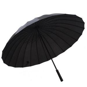 【PUSH!好聚好傘】24骨UPF30+抗紫外線雨傘黑色I27