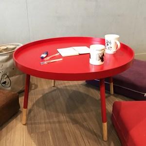 伊登 霍伯特 簡約三色工業風大桌面矮桌/茶几(紅)