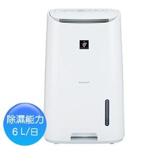 【SHARP夏普】6L自動除菌離子空氣清淨除濕機 DW-H6HT-W
