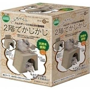 MARUKAN 鼠鼠舒適屋附磨牙玩具座 HT-37 x 1入