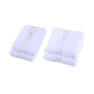 (組)HOLA 土耳其純棉浴巾x2+毛巾x2 (白)