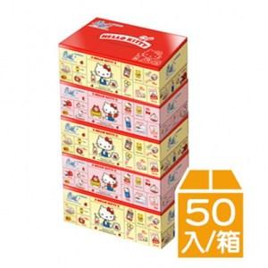 春風Kitty雜貨風盒裝面紙(150抽X5盒X10串/箱)