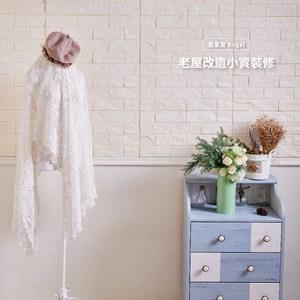 【悠家居Regal】台灣製3D立體防撞吸音泡棉壁貼磚-象牙白(4片)60x30cm