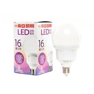 東亞G95型16W LED燈泡白光