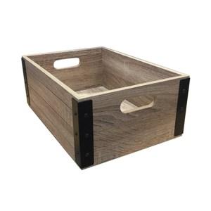 布納手做中木箱 橡木色