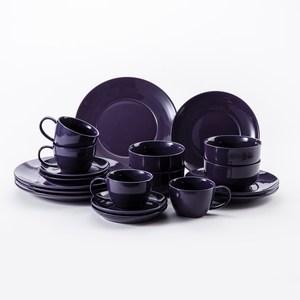 HOLA 璞真純色20件餐具组深紫
