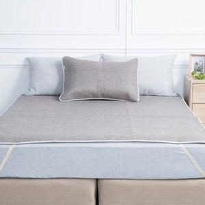 HOLA 薇爾亞藤抗菌防蟎加大床蓆180x186cm 藍灰