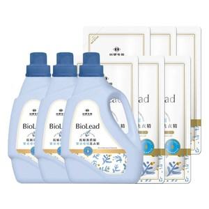 《台塑生醫》抗敏原濃縮洗衣精 嬰幼兒衣物專用(3瓶+6包)