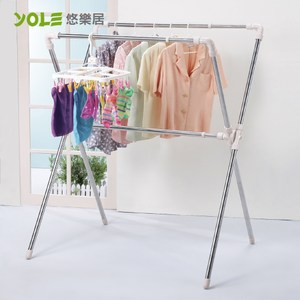 【YOLE悠樂居】X型伸縮折疊曬衣架