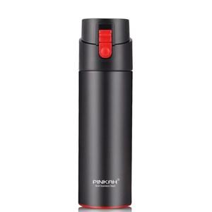 PUSH!304不鏽鋼保溫杯冷車載保溫杯530ml E125黑色黑色