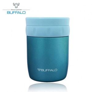 【BUFFALO牛頭牌】400ml食物罐(粉藍) AF4A304藍色