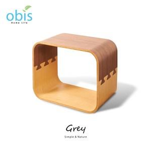 obis Grey格雷幾何方格櫃-胡桃雙色