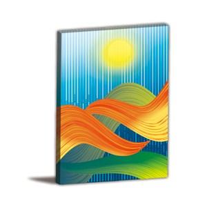 24mama掛畫-單聯式 夕陽風 手繪無框畫 40x60cm