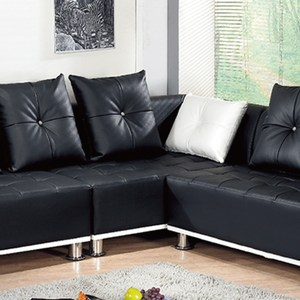 【YFS】羅絲黑色沙發中椅-131x80x82cm