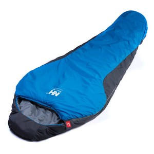【PUSH!登山戶外用品】防風防潑水木乃伊睡袋藍色P75