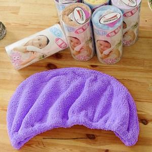 【米夢家居】水乾乾SUMEASY開纖吸水紗-快乾護髮浴帽(紫)一入