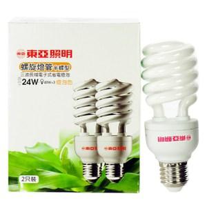 東亞半螺旋燈泡24W燈泡色2p