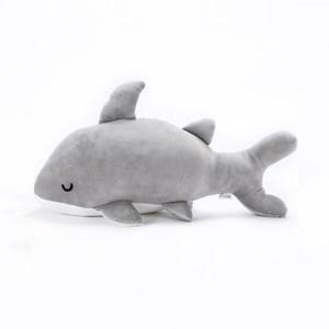 HOLA 樂洋彈力柔軟大鯊魚抱枕30x65cm寧靜灰