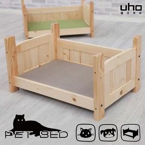 【UHO】松木寵物床(貓抓墊)淺咖啡色