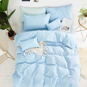 TRONlife好床生活 水洗純棉四件式兩用被床包組 馬爾地夫雙人