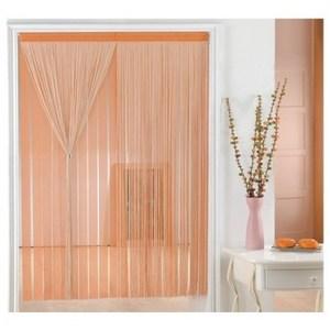 金格拉斯雙層雙色線簾90x240cm米橘