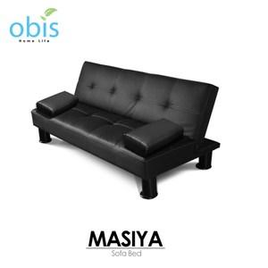 【obis】MASIYA 瑪西亞-簡約皮質沙發床(黑色)
