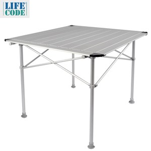 【LIFECODE】鋁合金蛋捲桌/折疊桌-加大款80x80cm-附收納袋