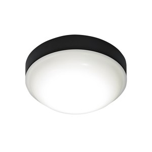 Panasonic LED防水吸頂燈 14.3W 黑色 白光